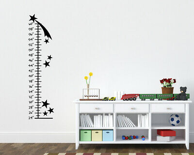 Stars Growth Chart Childrens Room, Boys Room Wall Ruler Star Grow Ruler Wall Art