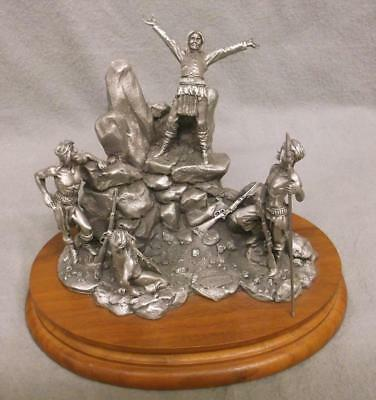 """Don Polland """"GERONIMO - Apache Di-yin for War"""" 1989 Signed Pewter Figure #1635"""