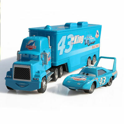 Disney Pixar Cars Hauler Dinoco Truck & Mack Superliner Car Diecast Kid Play Toy