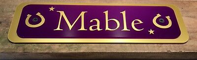 Horse Pony Stable Plaque Name Plate Personalised For Horses Tackroom Equestrian