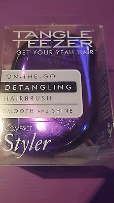 Tangle Teezer Brush Purple Metallic Compact Styler Hairbrush