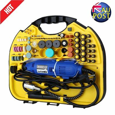 211Pcs Electric Drill&Grinder Polish Dremel Tool Kit Variable Speeds Rotary NV