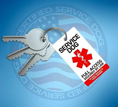 Service Dog Id Tag Key Chain / Collar Tag  For Service Animal Ptsd Esa Support