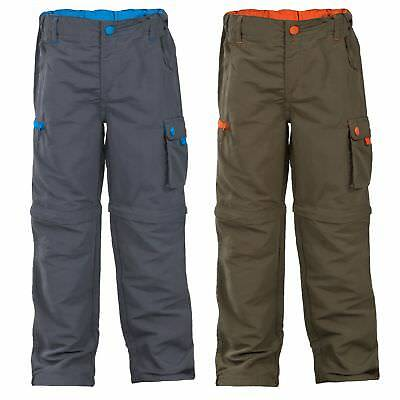 Trespass Kids Wayfield Walking Pants Zip Off Outdoor Boys Trousers