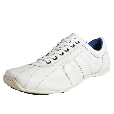 Red Tape Barney Men's Casual Leather Trainers Sports Shoes White
