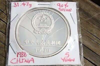 China 1988 5 yuan silver proof coin