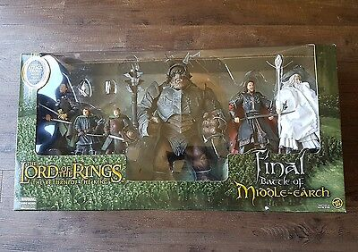 Lord of the Rings Final Battle of Middle Earth Gift Pack 2005 Toy Biz Brand New