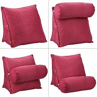 Adjustable Back Wedge Cushion Sofa Bed Office Chair Rest  Neck Support Pillow