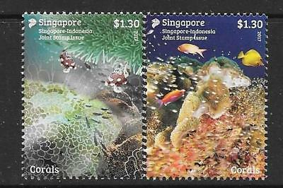 Singapore 2017 Joint Issue With Indonesia Mnh