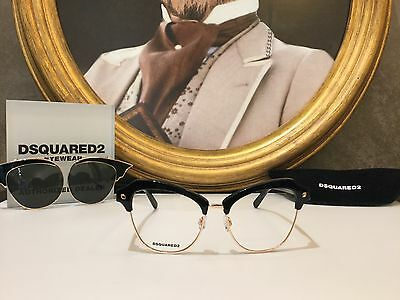 Dsquared2 Eyewear Eyeglasses Occhiale vista DQ5152 C.001 CLIP-ON New Collection