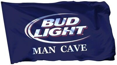 Budweiser Bud Light Beer Flag Banner 3 x 5 ft Deluxe Indoor Outdoor Man Cave Bar