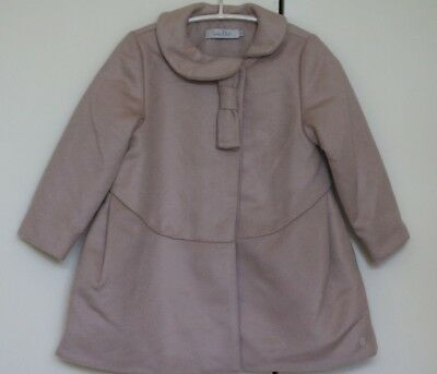 Baby Dior Pink Cashmere Wool Blend Lightly Padded Coat 24 Months