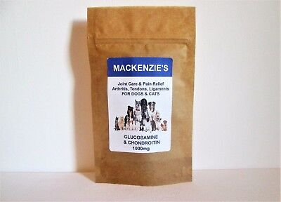 MACKENZIES  PREMIUM GLUCOSAMINE & CHONDROITIN TABLETS FOR DOGS & CATS 1000mg
