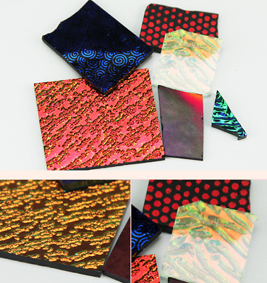 Fusing Dichroic Glass COE 90 In Assorted Colors Microwave Kiln Accessories 3Bags