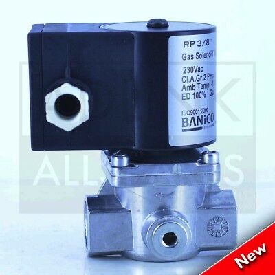 "Gas Interlock Solenoid Valve For Commercial Kitchens 3/8"" BSP (12mm) ZEV15"