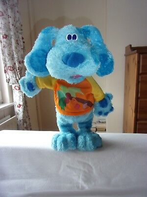 "'Blues Clues' 15"" TALL TALKING,SINGING,MOVING BLUE SOFT TOY SINGS COCONUT TREE"