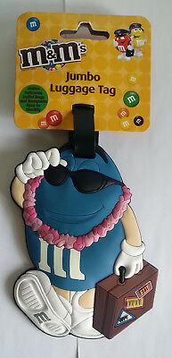 M&M Jumbo Luggage Tag Blue Character
