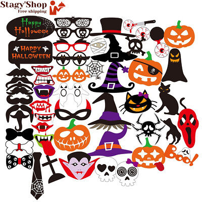 PBPBOX 52 Halloween Accessoires Photobooth pour Party Reunions Birthdays