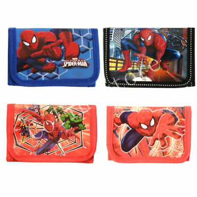 Cute Spiderman Boys Wallet Trifold Zip Coin Purse Kids Party Pouch