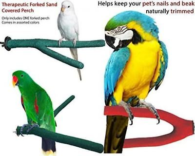 Ecotrition Hygienic Large Bird Perch Sanded Cover 4pk Keep nails Trim