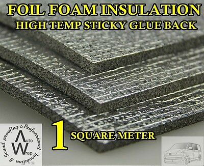 Foil Insulation Foam Sticky Back Car Van Boat Home Shed Dog Kennel Roof Loft T5