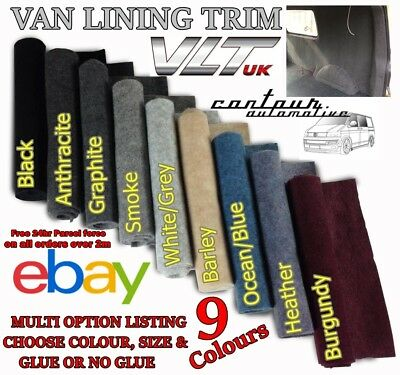 Van Car Camper Boat Motorhome Carpet Trim Lining Stretch Black Grey Acoustic