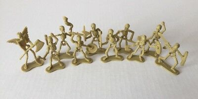 Skeleton Army Miniature Lot of 10 Paintable Undead D&D Pathfinder or Halloween