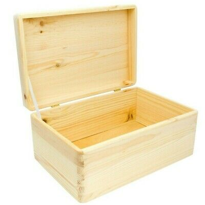 Wooden boxes with lid, Plain wooden box, Storage box, no handles
