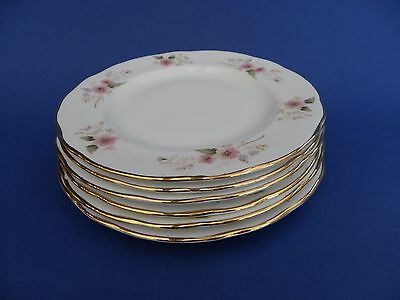 "Duchess Bone China 6.5"" diameter Side Plate ""Glen"" 316, Set of 6."