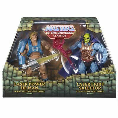 MOTU - Laser Power He-Man & Laser Light Skeletor  - AFA 9.0 - Neu&OVP