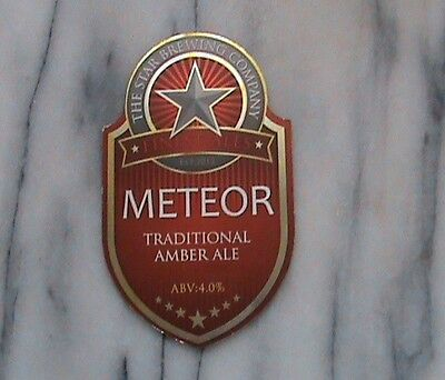 Star Meteor Real Ale Beer Pump Clip Sign