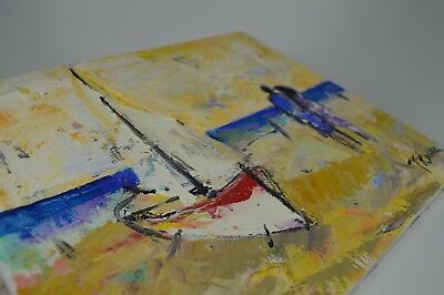 Original Abstract Art/ Oil On Canvas/ Painting / Signed/ 26.5 X 21.5 Cm