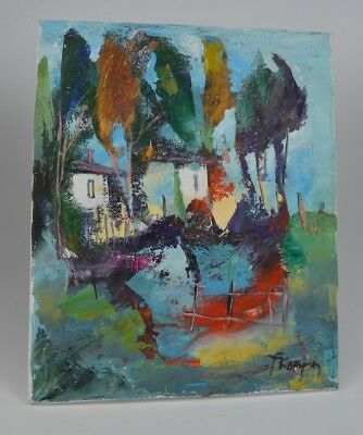 Original Abstract Art/ Oil On Stretched Canvas/ Painting / Signed/ 26 X 21 Cm
