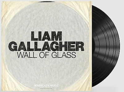 "OASIS Liam Gallagher 7"" Wall Of Glass 1000 Made ETCHED Ltd Edition Rare  NEW"