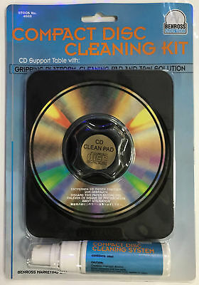 CD VCD DVD Cleaning Kit w/ Gripping Platform, Cleaning Pad and 30ml Solution