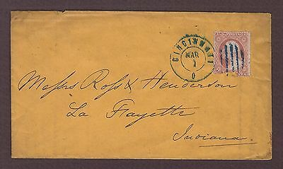 mjstampshobby 1857 US Vintage Cover Used (Lot4744)