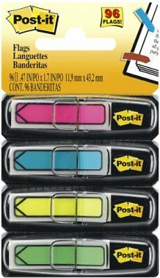 Post-it Arrow Flags, Assorted Bright Colors, 1/2-Inch Wide, 24/Dispenser,
