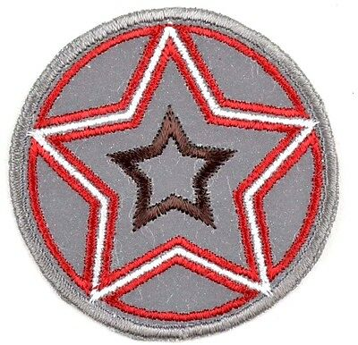 Reflective iron-on patch appliqué 11-655 Stern