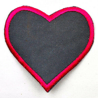 Reflective iron-on patch appliqué 11-499 Heart
