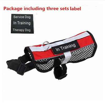 Therapy Dog Vest Harness with Removable 3 Label Patches Reflective Dog Harness