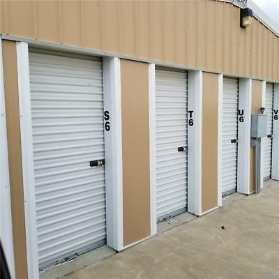 Heavy Duty 3' X 7' Roll Up Garage Door Walk Thru Storage Unit Shed Door & Track