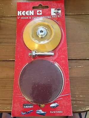 "1pc Keen 3"" Hook and Loop backup Pad #54502"