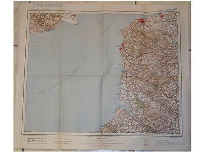 GErmany Prussian Military Map France CALAIS WW1 1914 Order Battle Fortifications