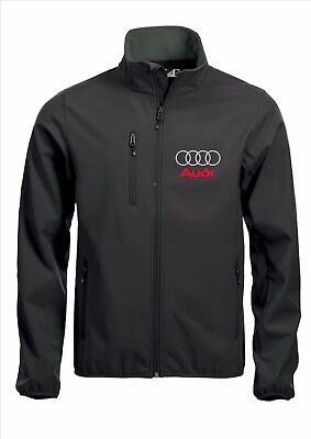 AUDI Quality Softshell Jacket Coat Black Embroidered Not Vinyl