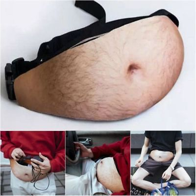 Funny Dad Bag Waist Bags Flesh Colored Fat Beer Belly Fanny Packs for Men Male