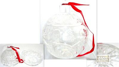 Stunning Decorative Christmas Glass Fifth Avenue Crystal Ball Candy Dish