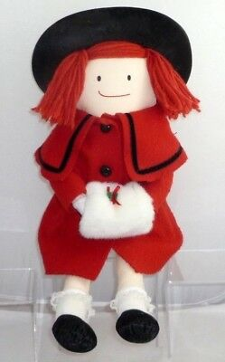 """Eden Madeline Holiday Doll Christmas Madeline With Red Coat 18 """" Tall"""