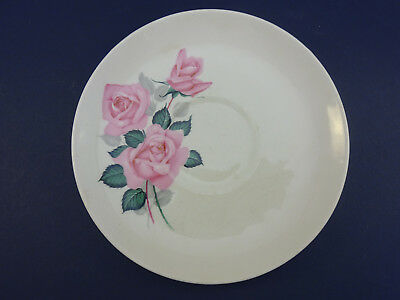 Vintage Wade China Saucer: Pink Roses Decoration: 14.5cm