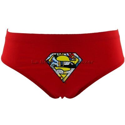 DC COMICS Slip Bain Moulant Garçon SUPERMAN Rouge MARVEL