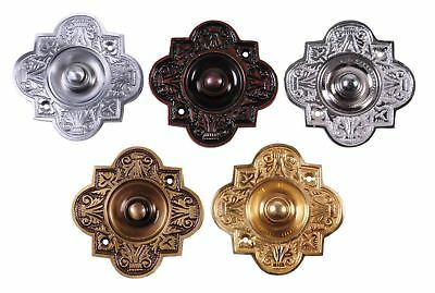 Victorian Style Brass High Quality Ornate Cast Front Bell Push Wired Bell Push